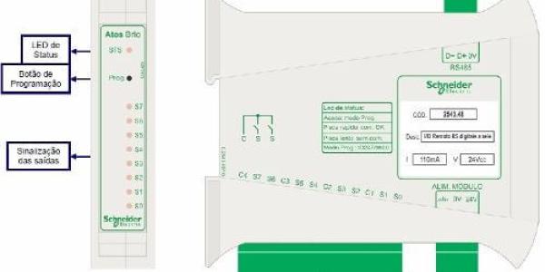 WEBNSR08 – Conectores e Leds de Indicação